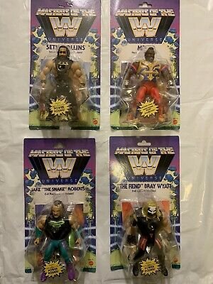 $119.98 • Buy WWE Masters Of The Universe Wave 4 Set Of 4 Jake Snake Mr T Fiend Seth Rollins
