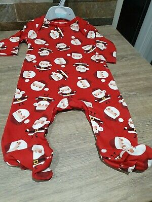 Mini Club Sleepsuit, Romper Suit, Baby Grow, Christmas Aged 0 - 3 Months • 2.95£