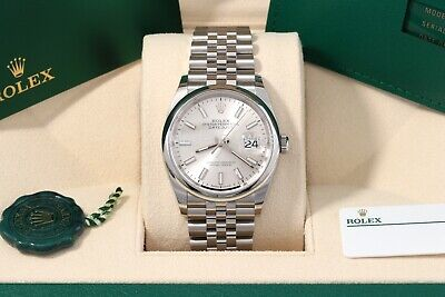 $ CDN10703.49 • Buy Rolex Datejust 36 Silver Index Jubilee Domed Nov 2020  Box/Papers/Card 126200
