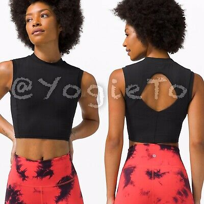 $ CDN75 • Buy Lululemon $83 Sweat Intention Tank 10 Crop Top Nulu Align NWT Black High Bra