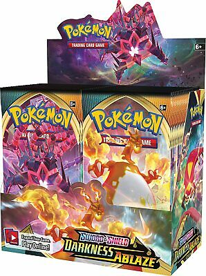 AU299.99 • Buy POKEMON TCG Sword And Shield Darkness Ablaze Booster Box Incl 36 Booster Packs
