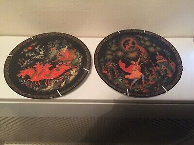 2 Russian Tianex Decorative Plates • 5£