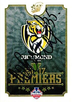 AU19.99 • Buy ✺Signed✺ 2017 RICHMOND TIGERS AFL Premiers Card NATHAN BROAD