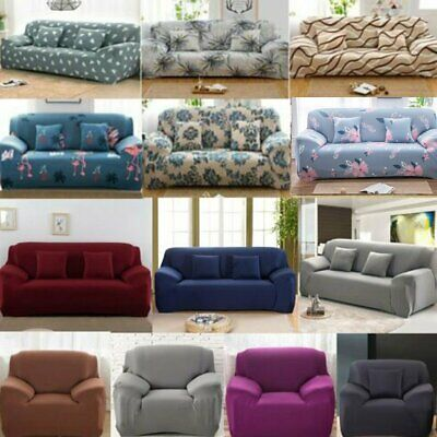 AU21.04 • Buy Sofa Covers 1/2/3/4 Seater Stretch Lounge Slipcover Protector Couch Washable