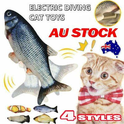 AU11.62 • Buy Electric Dancing Fish Kicker Cat Kid Toy Wagging Realistic Moves Rechargable %N