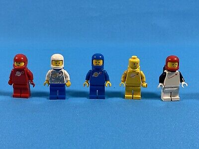 FREE POST 5 Lego Figures Minifigures Space Vintage Red Blue Yellow White Genuine • 12.99£
