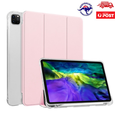 AU26.50 • Buy For IPad Pro 12.9 11 Inch (2020) Smart Stand Flip Cover Case With Pencil Holder