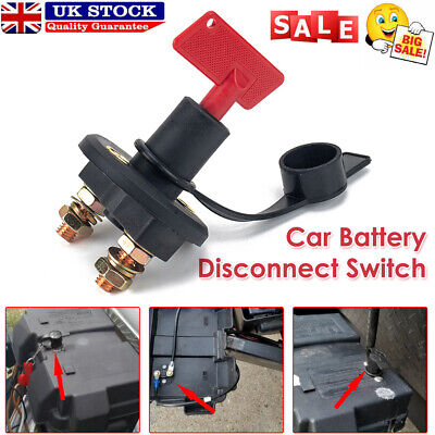 200A Car Battery Disconnect Switch Cut Off Switch Isolator With Dust Cover  Boat • 7.44£