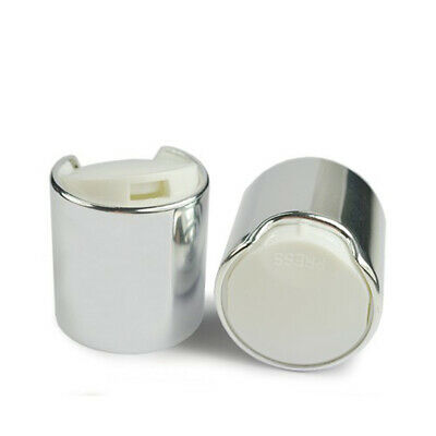 £5.99 • Buy Shiny Silver 24mm Screw On Disc Top Cap To Fit 24/410 Neck Size ANY AMOUNT
