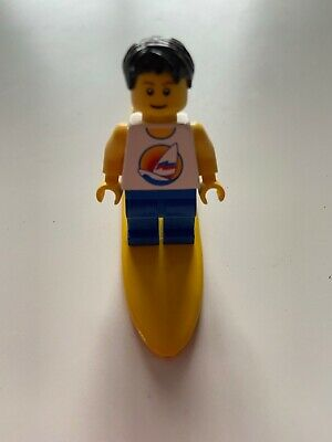 Lego Minifigure - Surfer And Surfboard • 0.99£