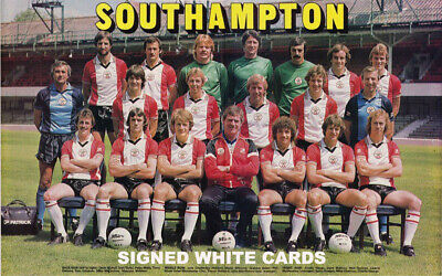 £4.99 • Buy SOUTHAMPTON FC AUTOGRAPHS FROM LATE 1970's-90's SIGNED WHITE CARDS
