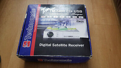 Technomate TM-5400 CI+ USB STB Satellite Receiver Conax Embedded • 10£