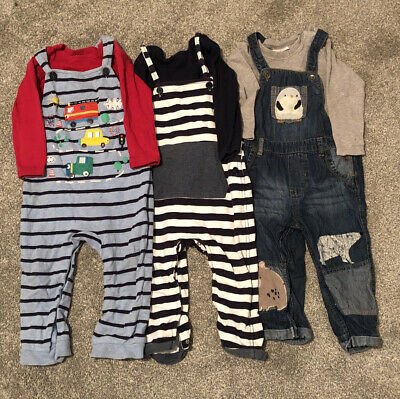 Next & Blue Zoo Dungarees Boys 12-18 Mths • 5.99£
