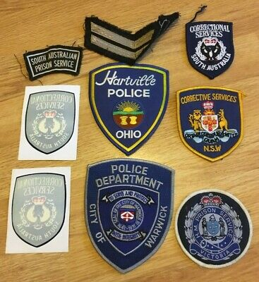 Genuine USA Police AUSTRALIAN Prison Cloth Patch Badge X9 • 9.99£