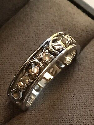 Clogau Silver & 9ct Rose Gold Tree Of Life Dathlu Ring Size M RRP £129.00 • 70£