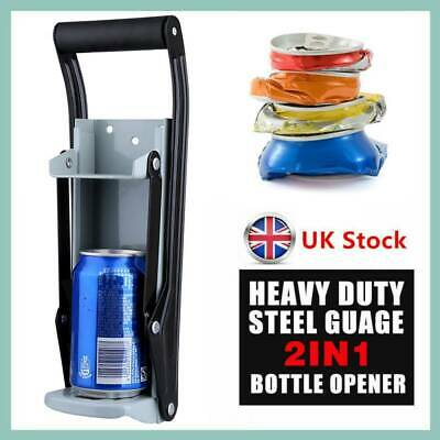 £7.84 • Buy 500m Heavy Duty Beer Tin Can Crusher Wall Mounted Recycling Tool & Bottle Opener