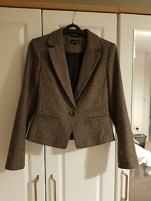 Women's Topshop Fitted Tweed Blazer Jacket - Size 6 • 4.50£