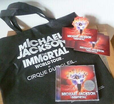Michael Jackson Mixed Immortal Bundle - Tote Bag, 4 Standee Cards & Sealed Cd • 10£