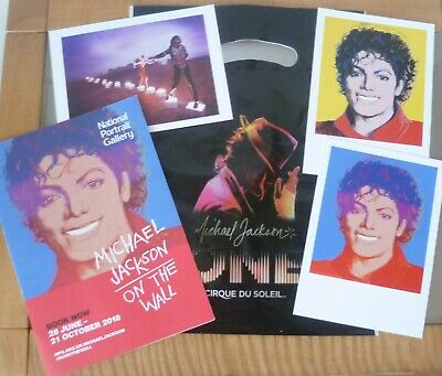 Michael Jackson On The Wall London Exhibition Postcards, Guide & Bag • 10£