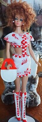 $ CDN51.89 • Buy Vintage Mod Clone Clear Midriff Flocked Mini & Boots  Barbie Wendy Mitzi Tammy