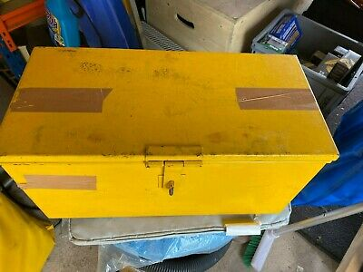 Heavy Duty Metal British Telecom BT Engineers Yellow Tool Box With Tools  • 45£