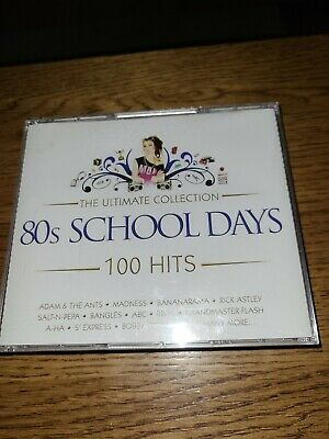 80s School Days -5 CD 80s 1980s Original Party Music 100 Hits • 0.99£