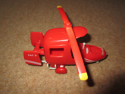 Postman Pat Red Helicopter With Wheels, Opening Doors. Good Condition • 1.50£