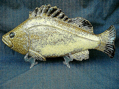 Vintage Glazed Stoneware Pottery Ceramic Fish  -  Wall Hanging Plaque • 14.99£