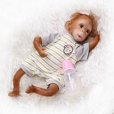 ICradle 45CM Handmade Detailed Paint Reborn Baby Monkey Newborn Doll Collectible • 67.99£