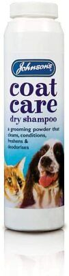 Johnsons Coat Care Cleans Conditions Skin Dry Shampoo Grooming Powder For Dogs • 4.99£