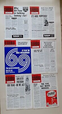 Today's Cinema Magazine 6 Issues From 1969 And 1971 • 4.99£