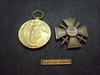 Vintage Ww1  War Medal And French Croix De Guerre Medal Issued + Other !! • 20£