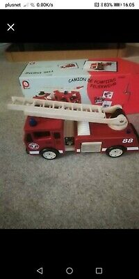John Crane Pintoy Large Wooden Fire Engine 3 Years + With Original Box!! • 9.99£