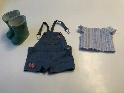 American Girl Doll Blaires Shorts, Top And Wellington Boots Outfit - UK Seller • 9.99£