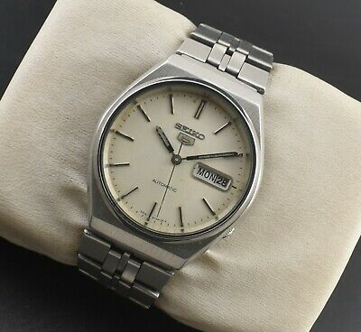 $ CDN1.28 • Buy Vintage Seiko 5 Automatic 17 Jewel Cal.6309a Day Date Men's Wrist Watch