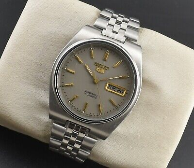 $ CDN1.28 • Buy Vintage Seiko 5 Automatic 17 Jewel Cal.7009a Day Date Men's Wrist Watch