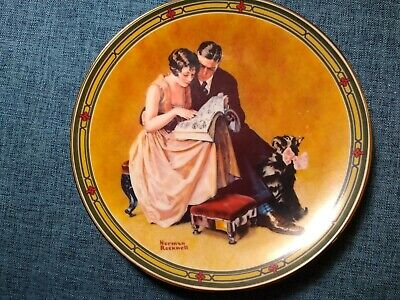 $ CDN1.28 • Buy Norman Rockwell Limited Edition Collectible Plate  A Couple's Commitment  1985