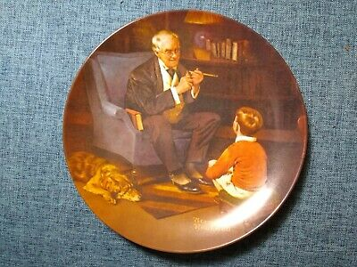 $ CDN1.28 • Buy Norman Rockwell Limited Edition Collectible Plate  The Tycoon  1982