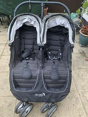 Baby Jogger City Mini Double Pushchair - Black • 80£