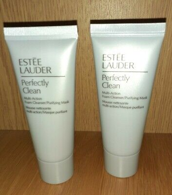 Estee Lauder Perfectly Clean Multi Action Foam Cleanser  30ml X2 • 6.49£