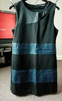 Ladies Black & Navy Blue Dress Size UK14 EUR 42 By MISS Captain Trends • 2.30£