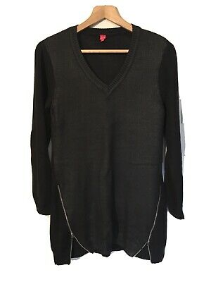 Miss Captain Black Zip Tunic Jumper Size T1 (Uk 12-14) • 8.95£