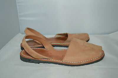 Peach Leather Solilas Sandals Size UK 6 EU 39 Good Condition  • 9.99£