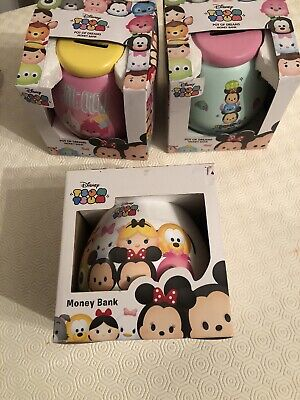 Disney  TSUM TSUM Pot Of Dreams Money Bank  NEW Set Of 3 • 5£