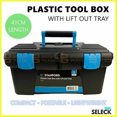 AU25.95 • Buy Portable Plastic Tool Box Toolbox DIY Parts Tools Container Storage Case Tray
