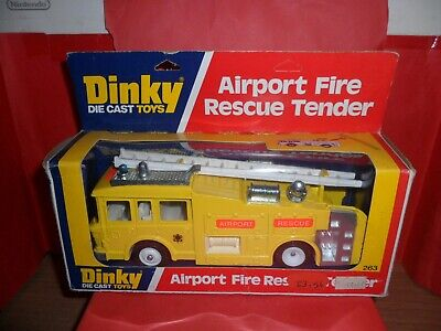 Dinky #263-Airport Fire Rescue Tender,Mint In Excellent Original Box,1978/80. • 11.24£