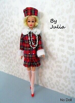 $ CDN71.37 • Buy Vintage Barbie 60's Style Francie Doll Clothes JAPANESE EXCLUSIVE RED PLAID 2687