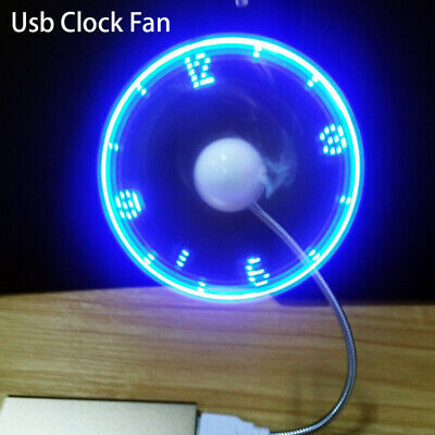 AU7.68 • Buy Hand Display Mini USB Fan Portable Gadgets Flexible LED Clock Cool For LaptoBDA