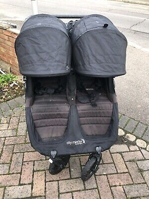 Baby Jogger City Mini GT Black Double Pushchair • 140£
