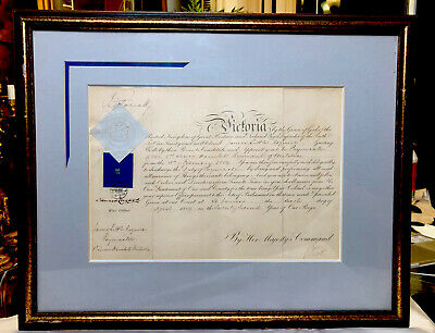 £704.70 • Buy Queen Victoria Rare Signed Antique Appointment Document